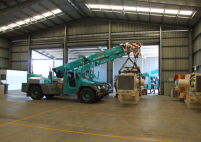 20 ton Franna cranse placing 1 x 6 36 tonne take up drive for the coal mining industry